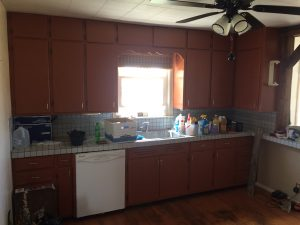 DIY kitchen renovation before 100th